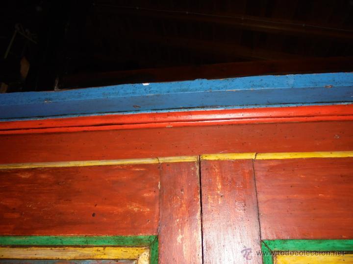 Antigüedades: Armario policromado del SXVIII. - Foto 8 - 46073606