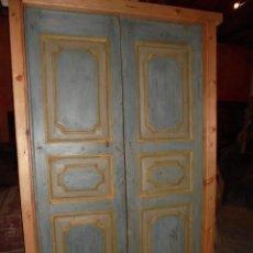 Antigüedades: PUERTA POLICROMADA DEL SVIII.. Lote 46076447