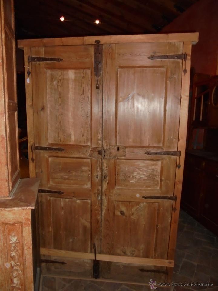 Antigüedades: Puerta policromada del SVIII. - Foto 2 - 46076447