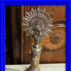 Antiquitäten - VIRGEN DEL PILAR DE PLATA CON LA COLUMNA DE ONIX - 41513437