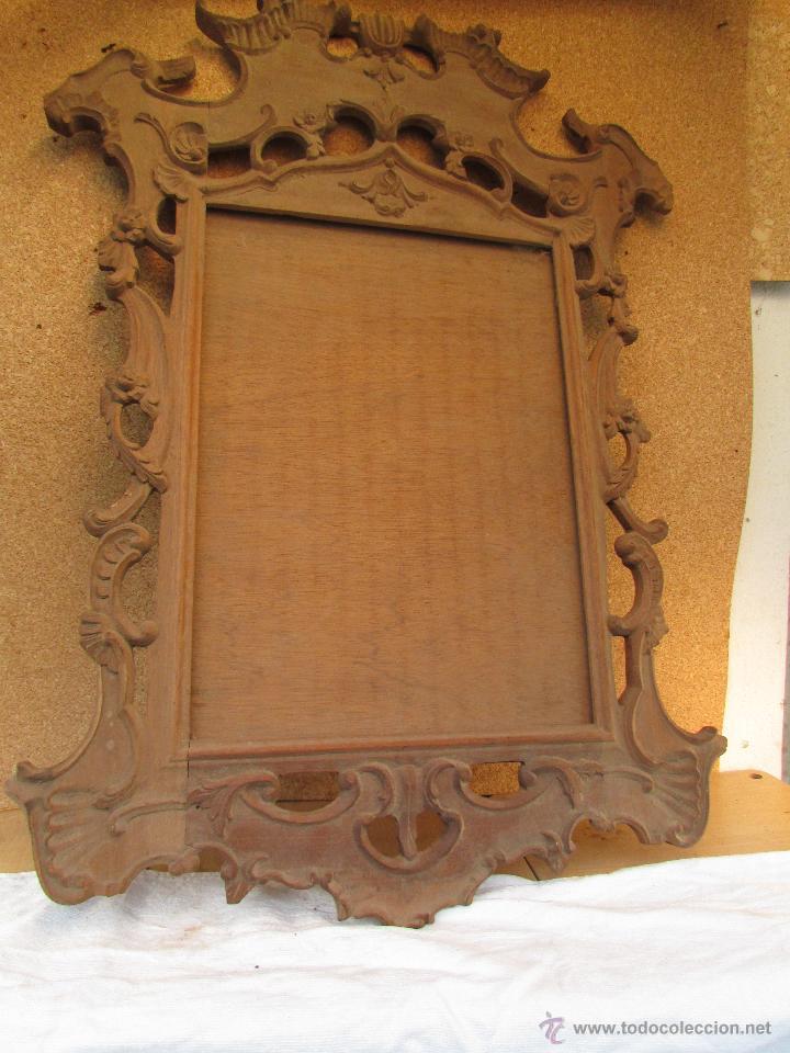 Marco para cuadro o espejo en madera de casta o comprar for Espejos de pared con marco de madera