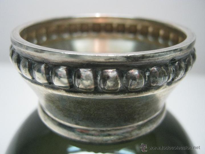 Antigüedades: años 50 - Raro Cristal Murano con pie repujado de plata 925 - Foto 3 - 46100060
