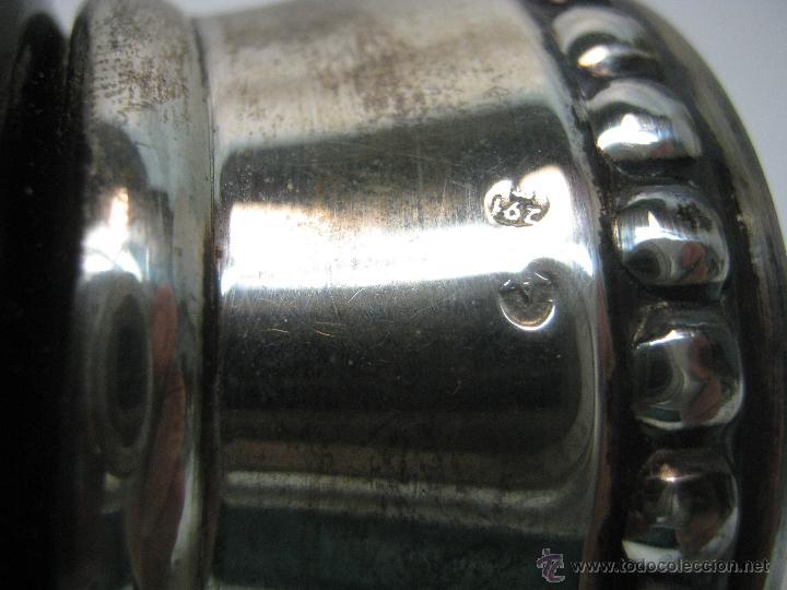 Antigüedades: años 50 - Raro Cristal Murano con pie repujado de plata 925 - Foto 4 - 46100060