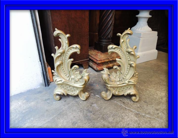 preciosos adornos para chimenea de bronce luis xv antigedades hogar y decoracin otros