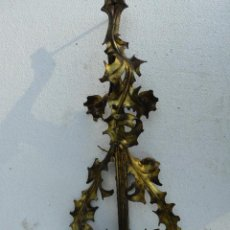 Antigüedades: APLIQUE DE LATON. Lote 46104326