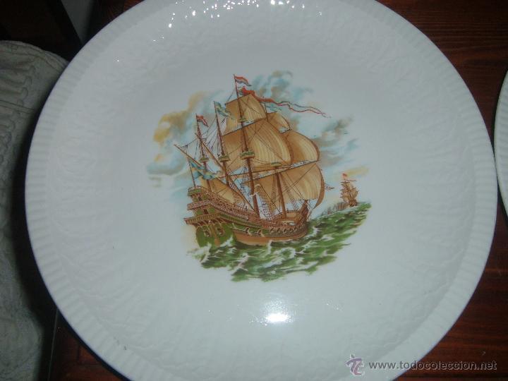 Antigüedades: Pareja de platos Pontesa - Foto 2 - 46107162