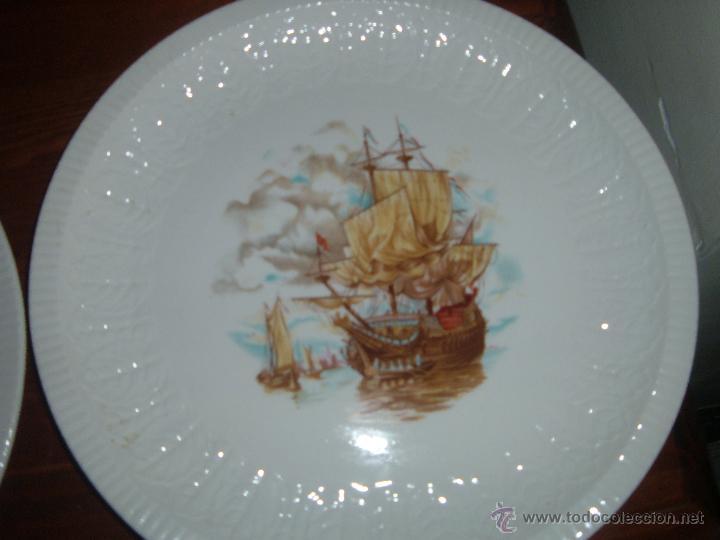 Antigüedades: Pareja de platos Pontesa - Foto 3 - 46107162