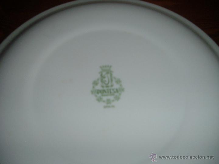 Antigüedades: Pareja de platos Pontesa - Foto 4 - 46107162