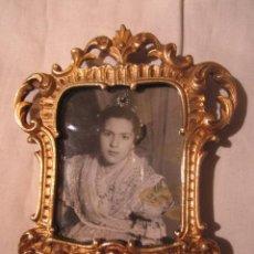 Antigüedades: OCASION ANTIGUO MARCO PORTAFOTOS DE BRONCE, ORO AL MERCURIO. 10 X 9 CMS.. Lote 46110940