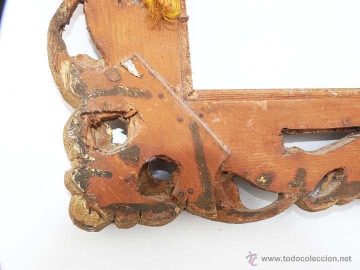 Antigüedades: PRECIOSO GRAN ESPEJO ANTIGUO EN MADERA IDEAL DECORACION CLASICA O VINTAGE - Foto 4 - 46111239