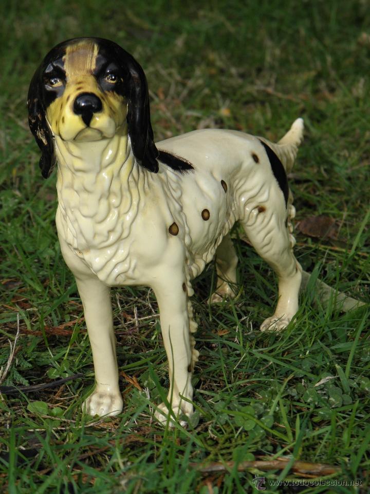 Antigüedades: Figura perro de caza de porcelana años 60 - Foto 2 - 46124022