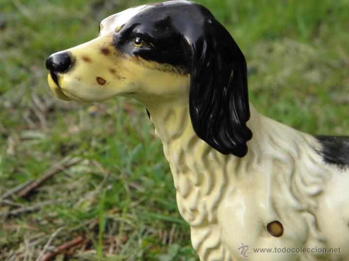 Antigüedades: Figura perro de caza de porcelana años 60 - Foto 3 - 46124022