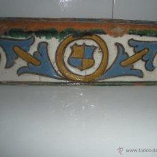 Antigüedades: ANTIGUO AZULEJO - ALIZAR DE TOLEDO CERAMICA CUERDA SECA, SIGLO XVI. Lote 46136758