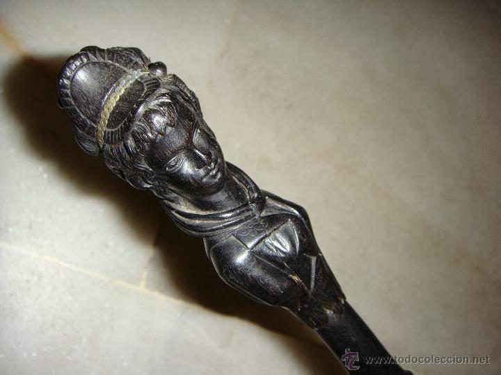 Antigüedades: Precioso bastón tallado a mano. Art Nouveau. - Foto 4 - 46149172