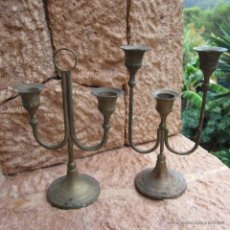 Antigüedades: 2 CANDELABROS. Lote 46151419