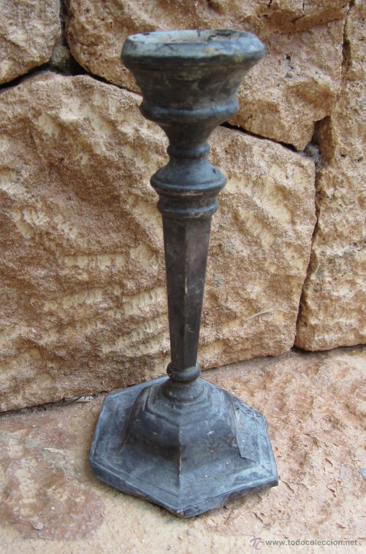 CANDELABRO PLATA (Antigüedades - Hogar y Decoración - Portavelas Antiguas)