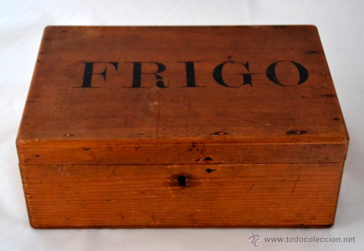 Antigua caja de madera de pino frigo comprar cajas - Caja madera antigua ...