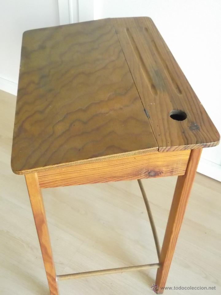 Antiguo pupitre silla y tintero escuela escolar comprar - Comprar muebles antiguos ...