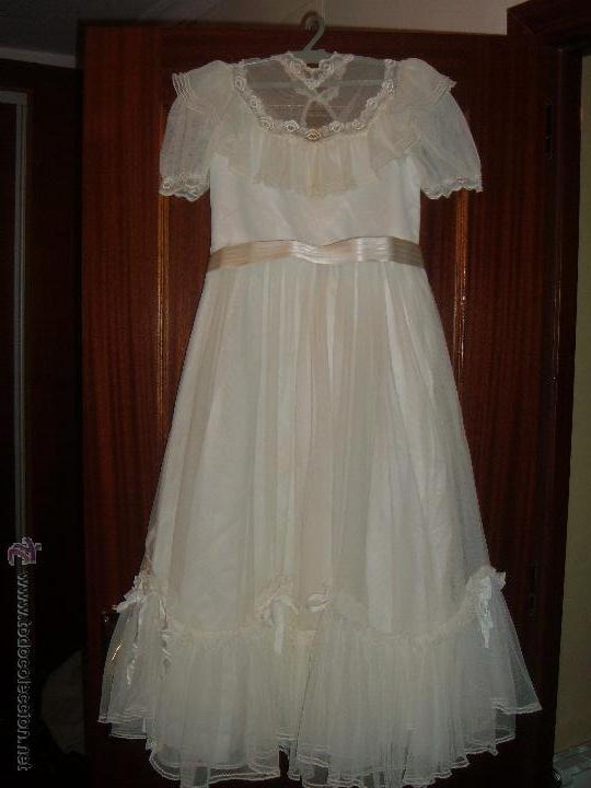 VESTIDO DE COMUNIÓN (Antigüedades - Moda y Complementos - Mujer)