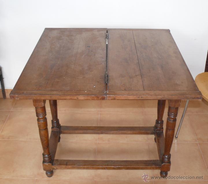 Mesa libro muy antigua madera y tiradores porce - Vendido en Subasta ...