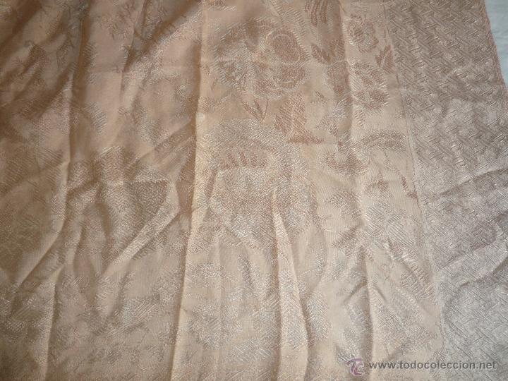 Antigüedades: COLCHA ANTIGUA DE SEDINA ROSA PALO - Foto 6 - 46178349