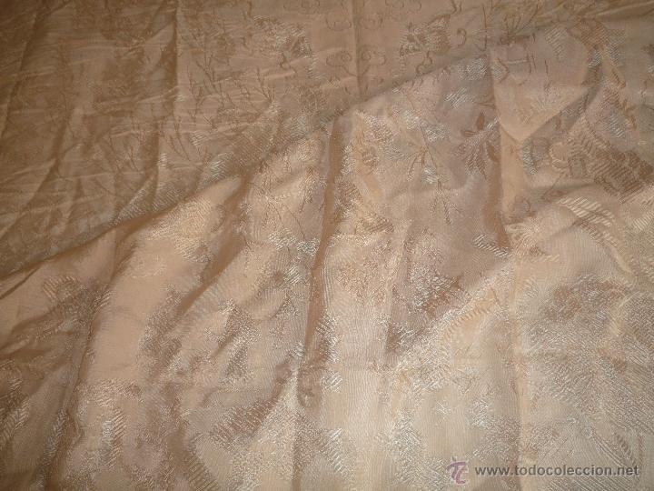 Antigüedades: COLCHA ANTIGUA DE SEDINA ROSA PALO - Foto 7 - 46178349