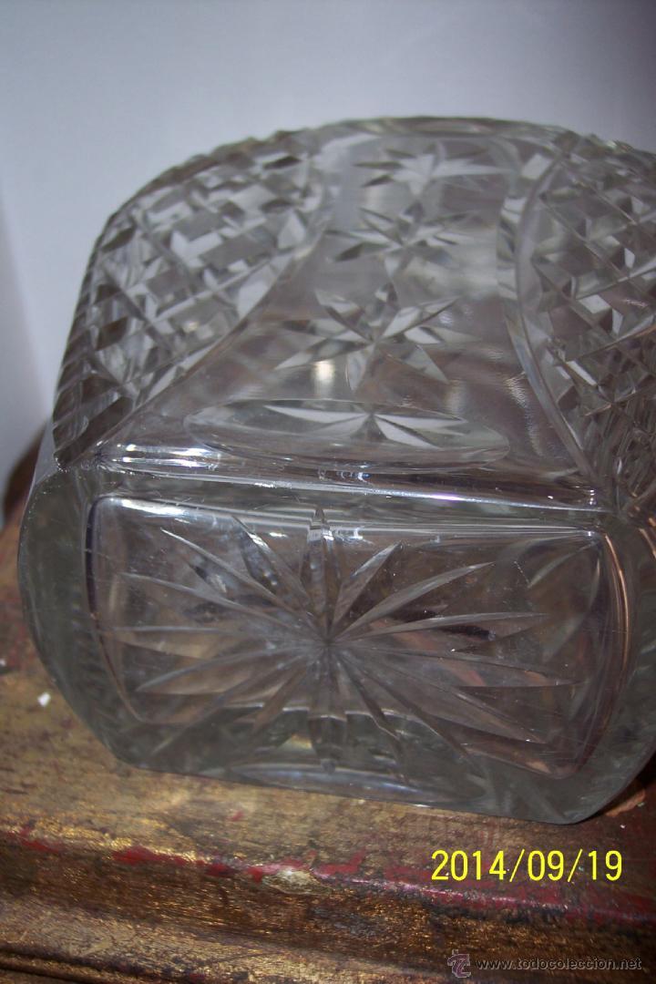Antigüedades: MAGNIFICA LICORERA EN CRISTAL TALLADO - Foto 4 - 46186775