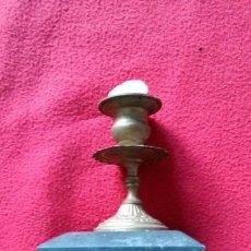 Antigüedades: ANTIGUO CANDELABRO EN MARMOL Y BRONCE. Lote 46192929