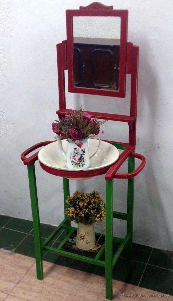 Precioso lavabo aguamanil muy r stico resta comprar for Utensilios del hogar