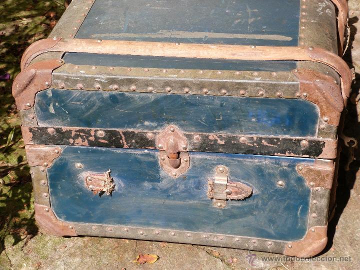 Antigüedades: BAÚL DE VIAJE - Foto 2 - 46211238