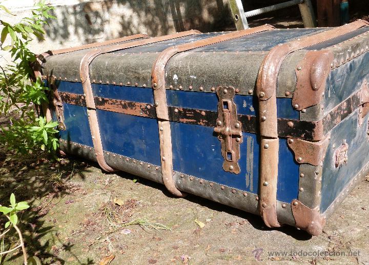 Antigüedades: BAÚL DE VIAJE - Foto 3 - 46211238