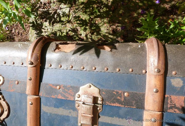Antigüedades: BAÚL DE VIAJE - Foto 8 - 46211238