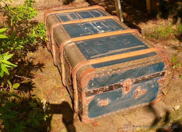 Antigüedades: BAÚL DE VIAJE - Foto 11 - 46211238