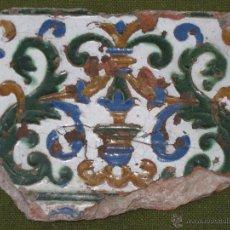Antigüedades: AZULEJO ANTIGUO DE TOLEDO. TECNICA DE ARISTA. RENACIMIENTO - SIGLO XVI.. Lote 46227448