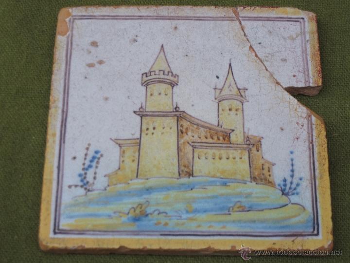 AZULEJO ANTIGUO DE TALAVERA DE LA REINA ( TOLEDO ) - CERAMICA RUIZ DE LUNA. (Antigüedades - Porcelanas y Cerámicas - Talavera)
