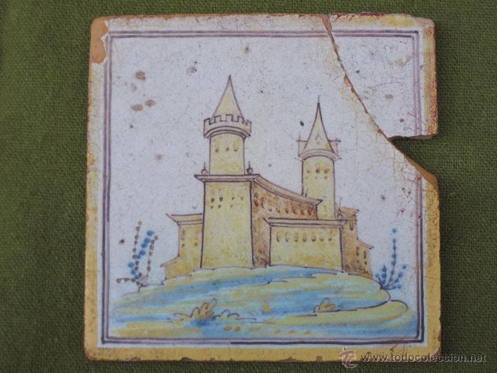 Antigüedades: AZULEJO ANTIGUO DE TALAVERA DE LA REINA ( TOLEDO ) - CERAMICA RUIZ DE LUNA. - Foto 2 - 52367129