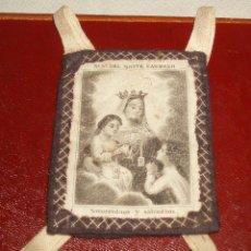 Antigüedades: ESCAPULARIO DE NRTA. SRA. DEL CARMELO. Lote 46238550