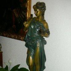 Antigüedades: FIGURA FEMENINA DE BRONCE, S.XX. Lote 46239186