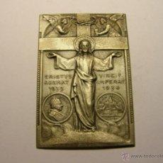 Antigüedades: ORNAMENTO RELIGIOSO ENFORMA DE PLACA, AÑOS 1933-1934, PAPA PIO XI.. Lote 46256299