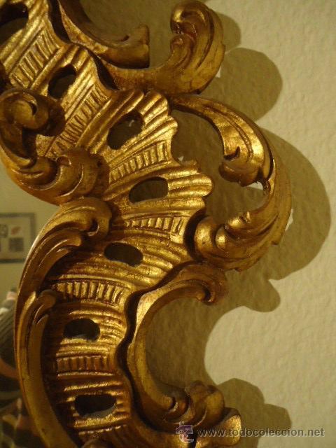 MAGNIFICA PAREJA DE CORNUCOPIAS DE ESPEJO GRANDES (Antigüedades - Muebles Antiguos - Cornucopias Antiguas)