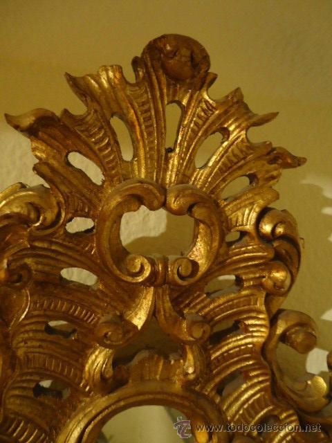 Antigüedades: MAGNIFICA PAREJA DE CORNUCOPIAS DE ESPEJO GRANDES - Foto 3 - 46260233