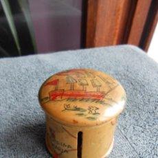 Antigüedades: CAJA DE MADERA PARA OVILLO DE HILO.. Lote 46267247