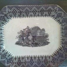 Antigüedades: ANTIGUA FUENTE DE CARTAGENA, JARRONES EUROPEOS. SELLADA. Lote 46293086