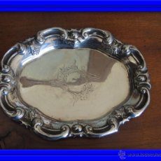 Antigüedades: BANDEJA DE PLATA S.XIX BARCELONA PLATERO ROVIRA. Lote 44188446