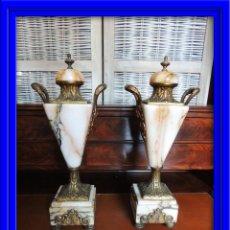 Antigüedades: COPAS DE MARMOL Y BRONCE ANTIGUAS. Lote 44267413