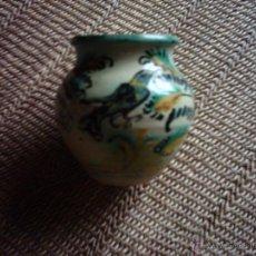 Antigüedades: ORZA DE CERÁMICA CON PÁJARO PINTADO.. PRIMERA MITAD DEL SIGLO XX. 11 CM. SIN MARCAS. . Lote 46297766