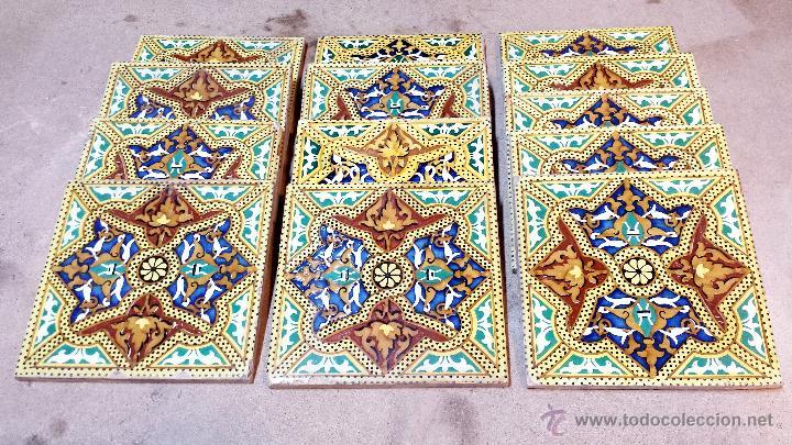 Lote 13 azulejos antiguos de la fabrica onda es comprar azulejos antiguos en todocoleccion - Azulejos onda castellon ...