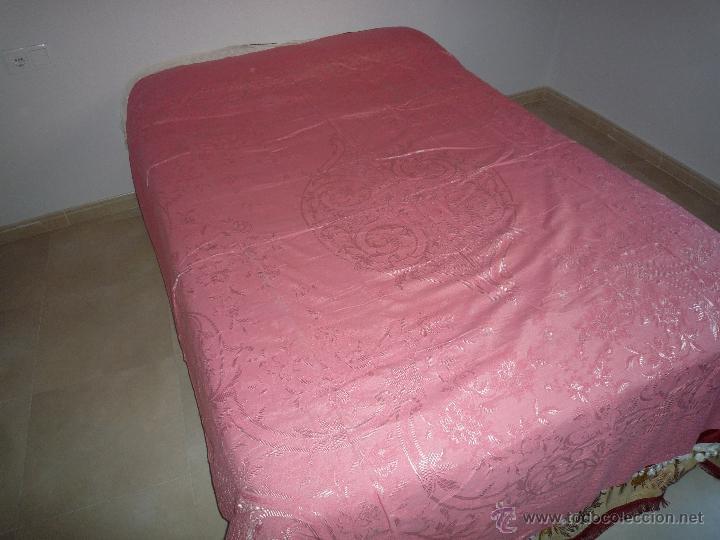 Antigüedades: Colcha antigua algodón - Foto 2 - 46317806