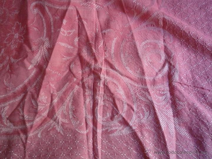Antigüedades: Colcha antigua algodón - Foto 4 - 46317806