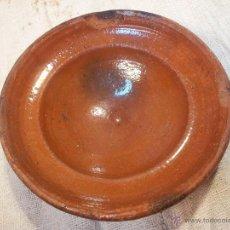 Antigüedades: ANTIGUO PLATO POPULAR CATALAN CERAMICA VIDRIADA ALT CAMP. Lote 46320114